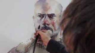 Watercolor demonstration by Marek Yanai - Portrait of Itai