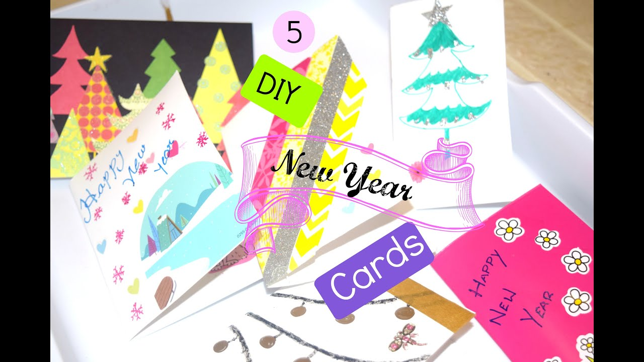 diy easy new year cards seasons greetings