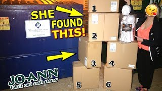 JOANN FABRIC EMPLOYEES LEFT US *6 BOXES! OF THESE IN THEIR DUMPSTER ! NIGHT #265