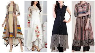Stylish and trendy comfortable long shirts summer dresses design for girls