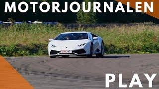 Lamborghini Huracán on track
