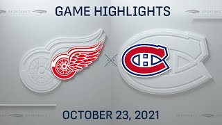NHL Highlights   Red Wings vs. Canadiens - Oct. 23, 2021