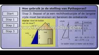 Hoe gebruik je de stelling van pythagoras?