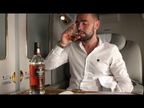 Taste-testing $2000 of premium alcohol on Emirates First Cla