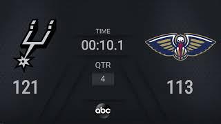 Spurs @ Pelicans | NBA on ABC Live Scoreboard #WholeNewGame