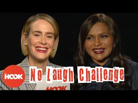 Mindy Kaling and Sarah Paulson Play The No Laugh Challenge | The Hook