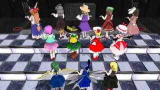 Touhou MMD Academy of dance recital in elementary school established in Gensokyo Resimi