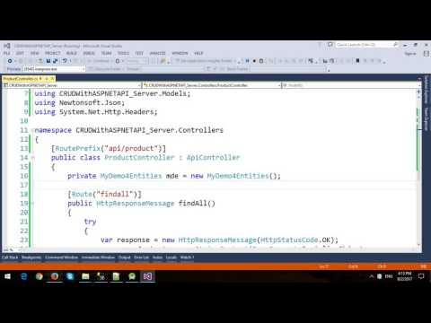 Android CRUD with ASP.NET Web API, Entity Framework and SQL Server - Part 1