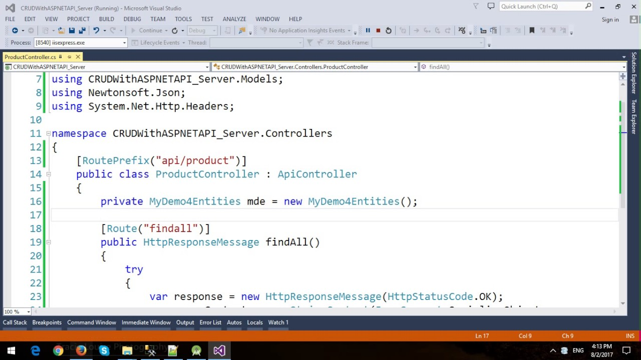 Android CRUD with ASP NET Web API, Entity Framework and SQL Server - Part 1