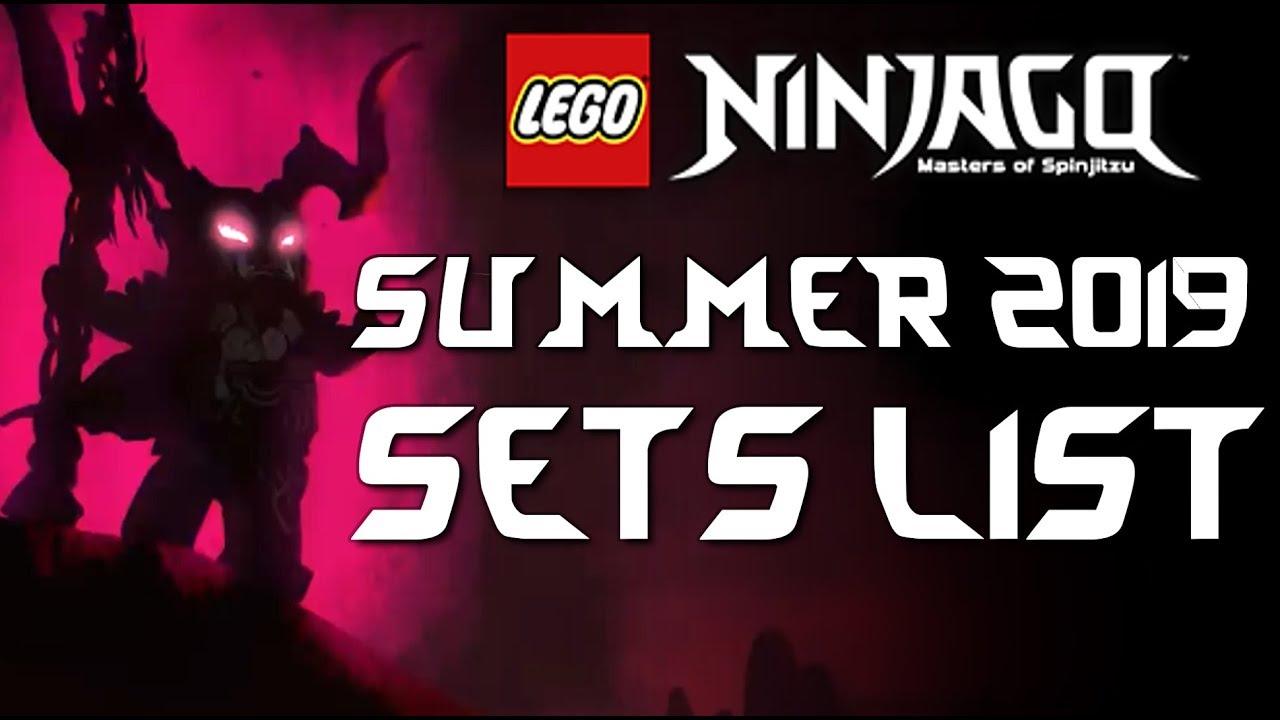 Lego Ninjago Summer 2019 Set Names Youtube
