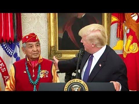 Trump Tells Racial Slur Joke To Vets