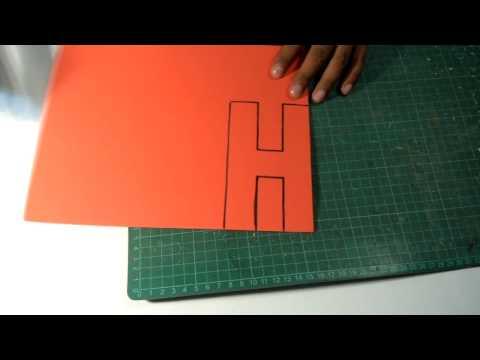 DIY - Molde Universal para hacer letras.