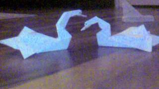 Little Love Story With Swans Origami