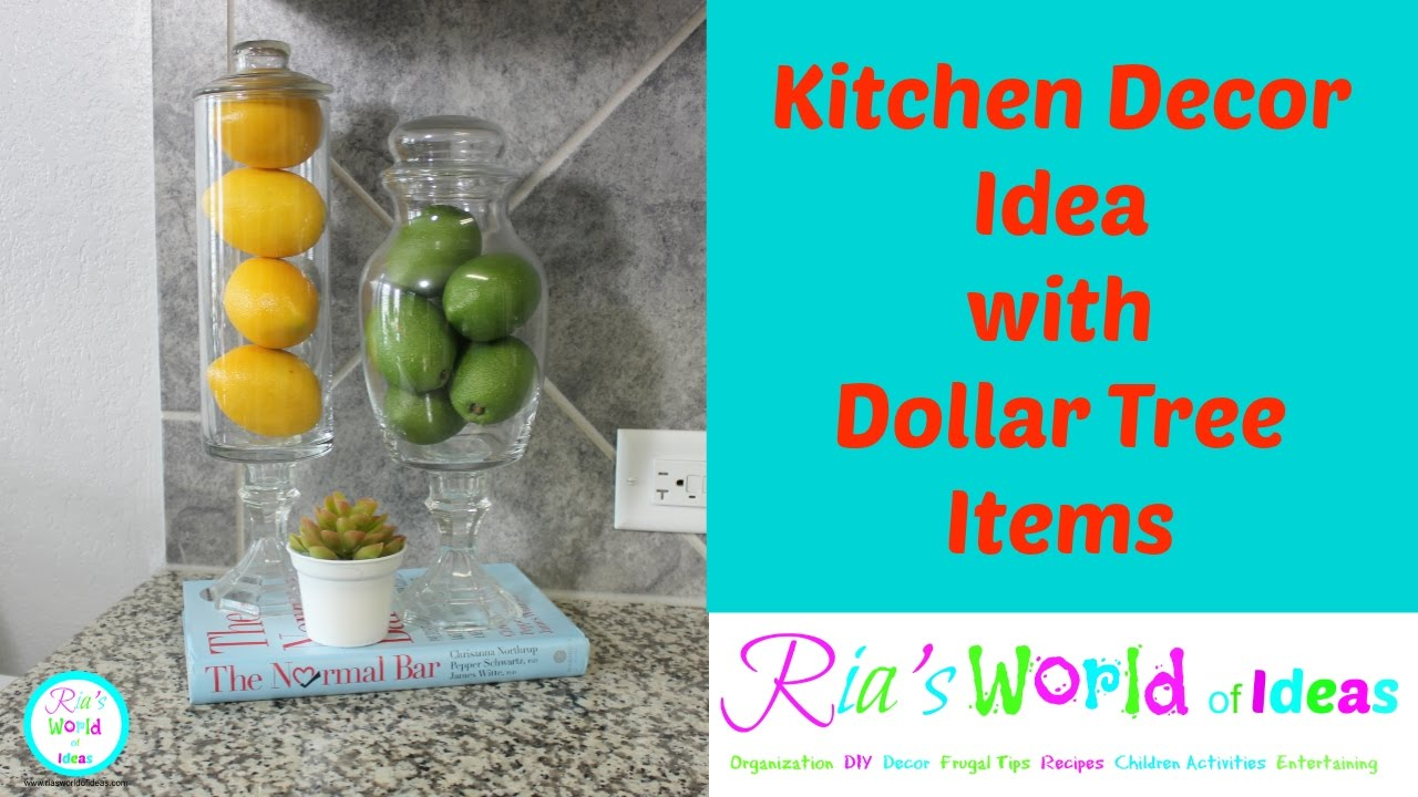Kitchen Decor Idea with Dollar Tree items - YouTube