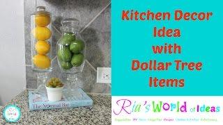 Kitchen Decor Idea With Dollar Tree Items