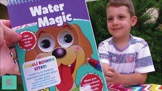 Новая Водная раскраска Обзор Видео для детей water magic colors rewiew video for kids