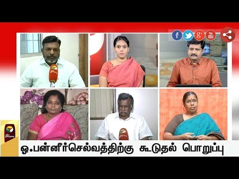 TN Governor allocates portfolios held by Jayalalithaa to Panneerselvam | Exclusive Debate