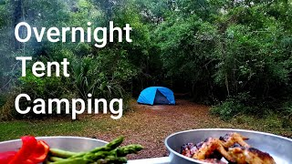 Overnight Tent Camping In Florida: Beautiful Weather, Long Hike, And Camp Chicken Wings!!