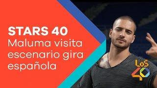 Maluma visita el escenario en el que arrancará su gira española