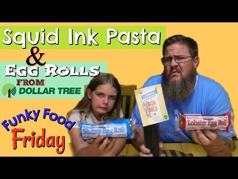 Funky Food Friday    Squid Ink Pasta And Dollar Tree Egg Rolls