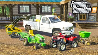 LANDSCAPING A NEW $800,000 MANSION | (ROLEPLAY) FARMING SIMULATOR 2019