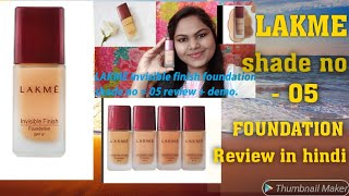 Lakme invisible finish foundation review+demo in hindi