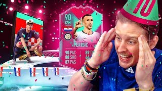 THE BEST FUT BIRTHDAY CARD?! 90 FUT BIRTHDAY PERISIC PLAYER REVIEW! FIFA 19 Ultimate Team