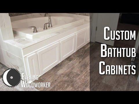 Custom DIY Bathtub Cabinets