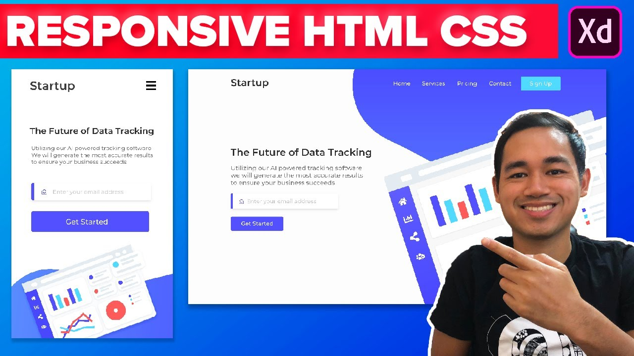 How to Make a Website Using HTML And CSS - Coding Adobe XD Web Design Tutorial