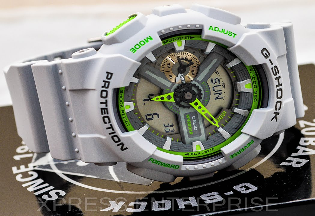 Casio Gshock Ga110ts 8a3 Review How To Set Time Light Display