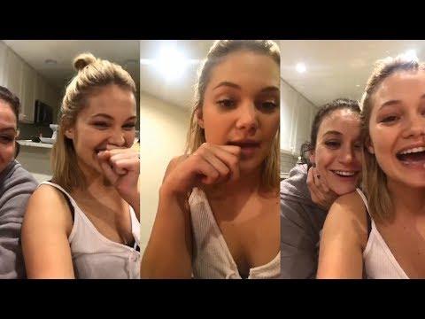 Olivia Holt  Instagram Live Stream  1 December 2017  SICK & TWISTED CHARADES! w Friends