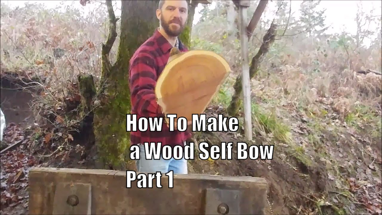 How to Make a Wood Self Bow, Part 1  (Laying Out the Design on the Stave)