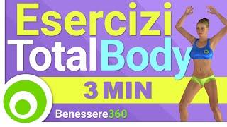 Allenamento Total Body di 3 Minuti: Come Tonificare il Corpo con 3 Minuti di Esercizi al Giorno