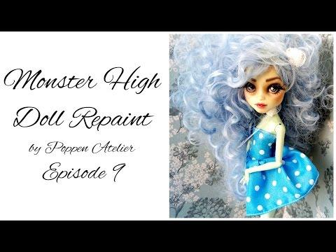 Monster High Repaint / Custom Monster High - Episode 9 - Frankie Stein