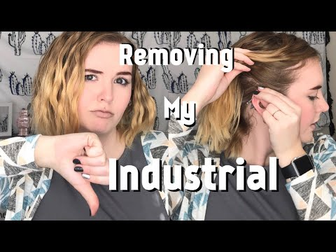 Removing My Industrial Piercing