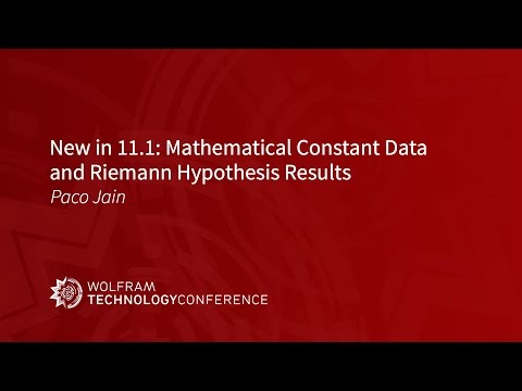 New in 11.1: Mathematical Constant Data and Riemann Hypothesis Results