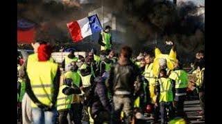 Paryż - żółte kamizelki na Champs Elysees 29.12.2018