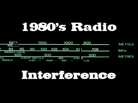 1 Hour 1980's Analogue Radio Interference / Static - Sound Effects