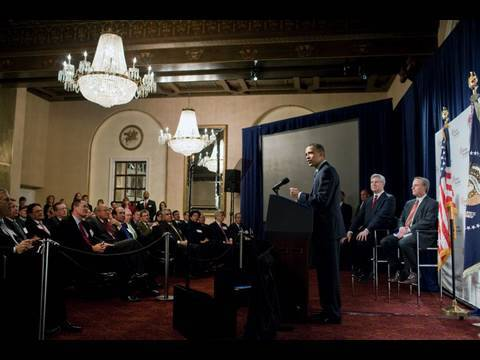 President Obama Addresses Business Roundtable
