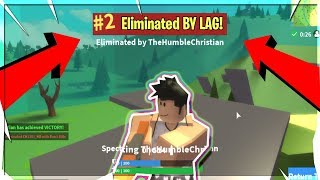 I DIED IN ROBLOX FORTNITE BECAUSE OF LAG!!! (Getting 2nd)