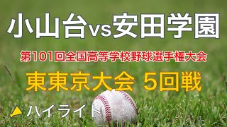 2019 小山台vs安田学園 東東京大会 5回戦 ハイライト(高校野球)