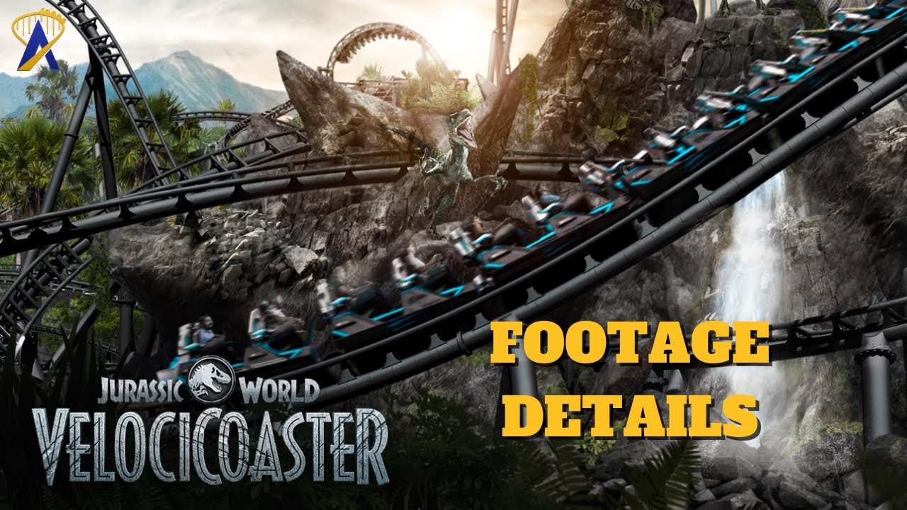 Jurassic World VelociCoaster Preview Footage Details at Universal Orlando