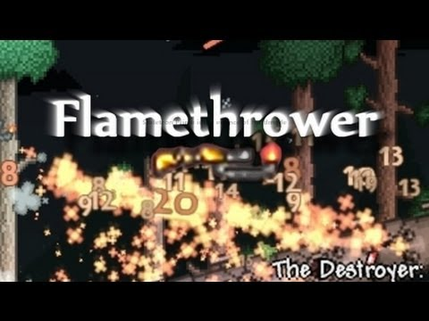 Terraria - Flamethrower and the Destroyer (Hardmode)