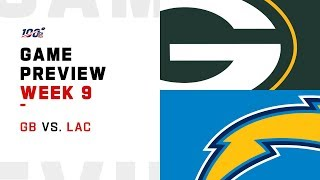 Green Bay Packers vs. Los Angeles Chargers Week 9 NFL Game Preview