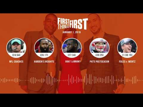 First Things First audio podcast (1.1.19) Cris Carter, Nick Wright, Jenna Wolfe | FIRST THINGS FIRST