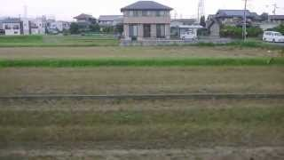 三岐鉄道 北勢線 穴太~七和駅間 車窓北側 三重のナローゲージ