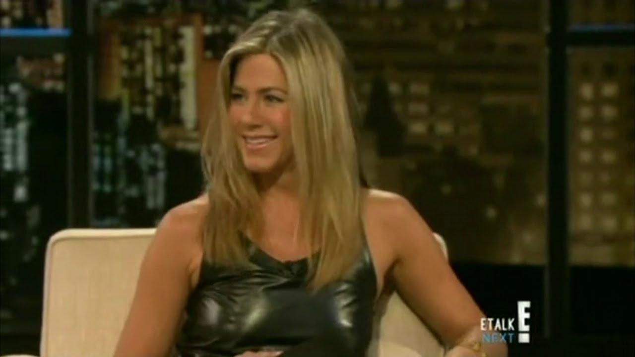 Jennifer Aniston goes braless with pokies on Chelsea Lately [close up edit] - YouTube