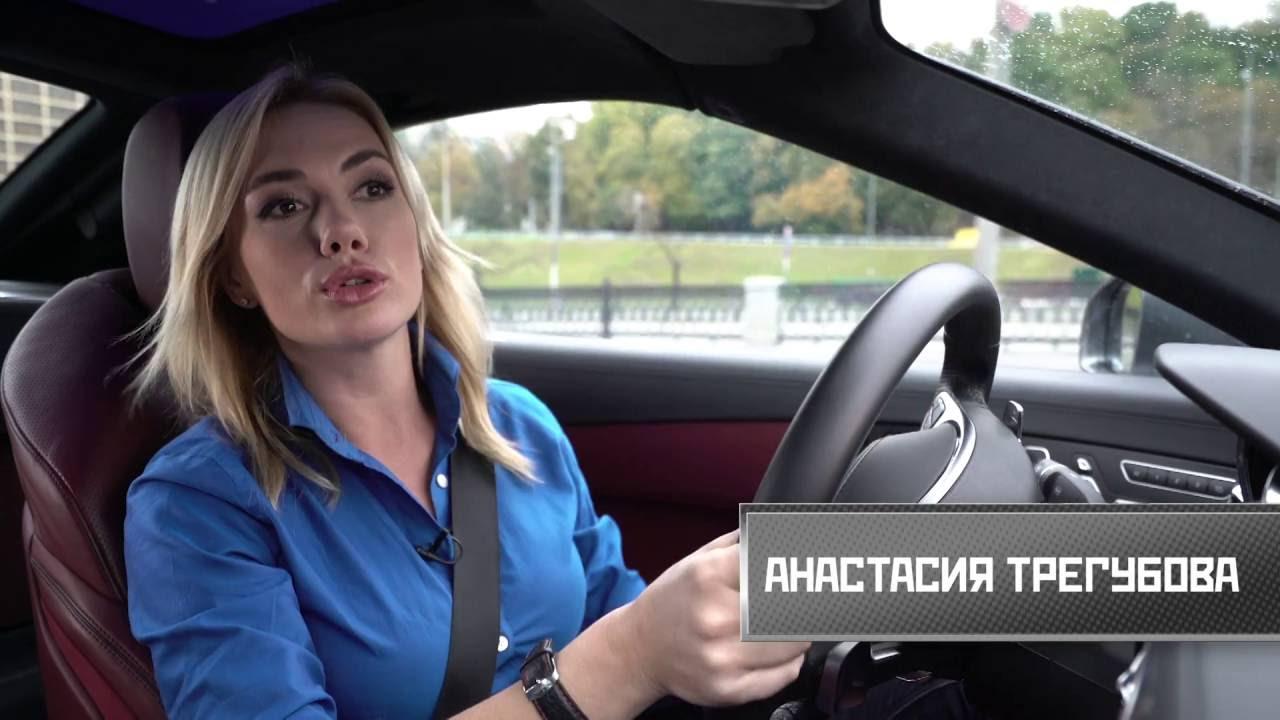 """NEW Mercedes SL 400: Тест-драйв в шоу """"Разгон"""" с Анастасией Трегубовой."""