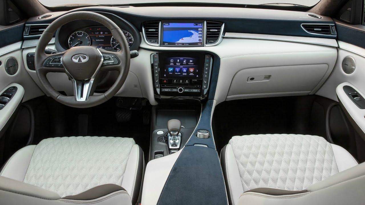 2019 White Infiniti Qx50 Powerful Elegant Luxury Mid