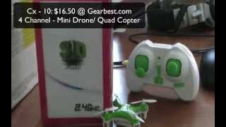 Mini Drone (CX-10) QuadCopter Review {Palm Size!}
